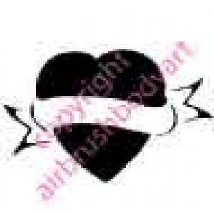 0243 heart reusable stencil